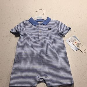 Chaps rugby romper blue white 9m
